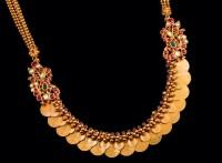 Kasu mala with rubies by Abharanam jewellers
