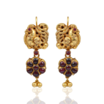 NAC Jewellers Antique Peacock Ruby Earrings