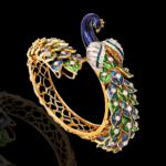 Enamelled Diamond Peacock Bracelet from NAC Jewellers