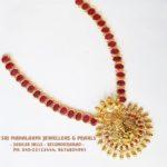 Royal Ruby and Ganesh Pendant Set From SriMahalakshmi Jewellers