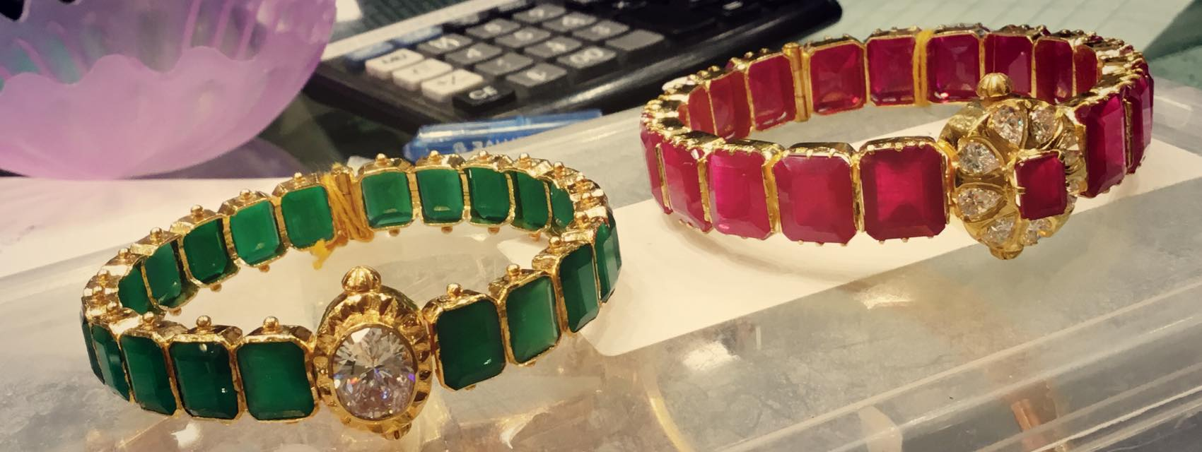 jewellery stones large bangles ruby emerald designs