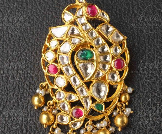 kundan peacock pendant from hiya designer jewellery