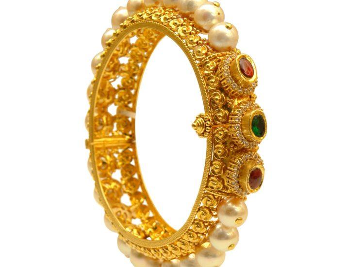pearl bangles prince jewellery