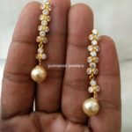 Light Weight CZs South Sea Pearl Earrings