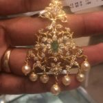 Light Weight Gold Pendant studded with CZs 11 grams