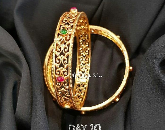 gold plated silver bangles from bcos its silver