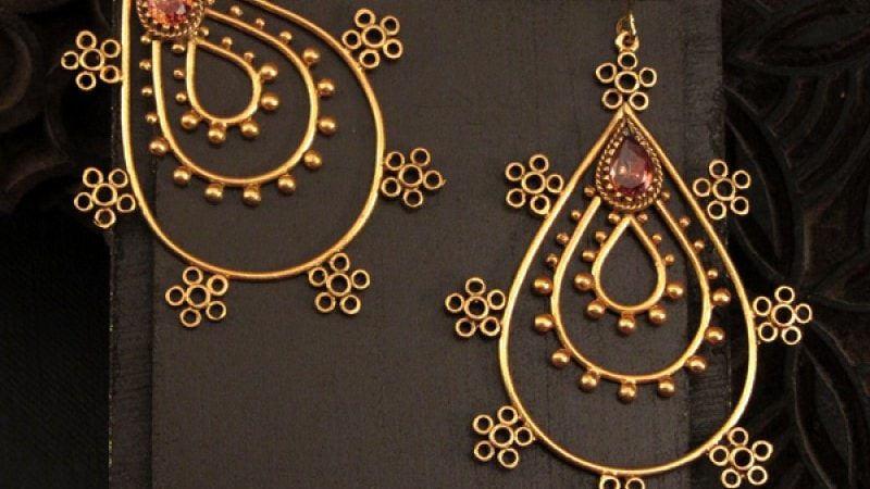 gold drop jhumkis from suhani pittie