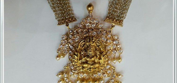 uncut lakshmi pendant from sri mahalakshmi jewellers & pearls