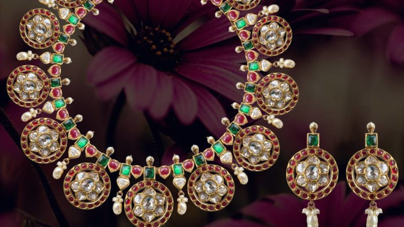 bold polki bottumala by karni jewellers