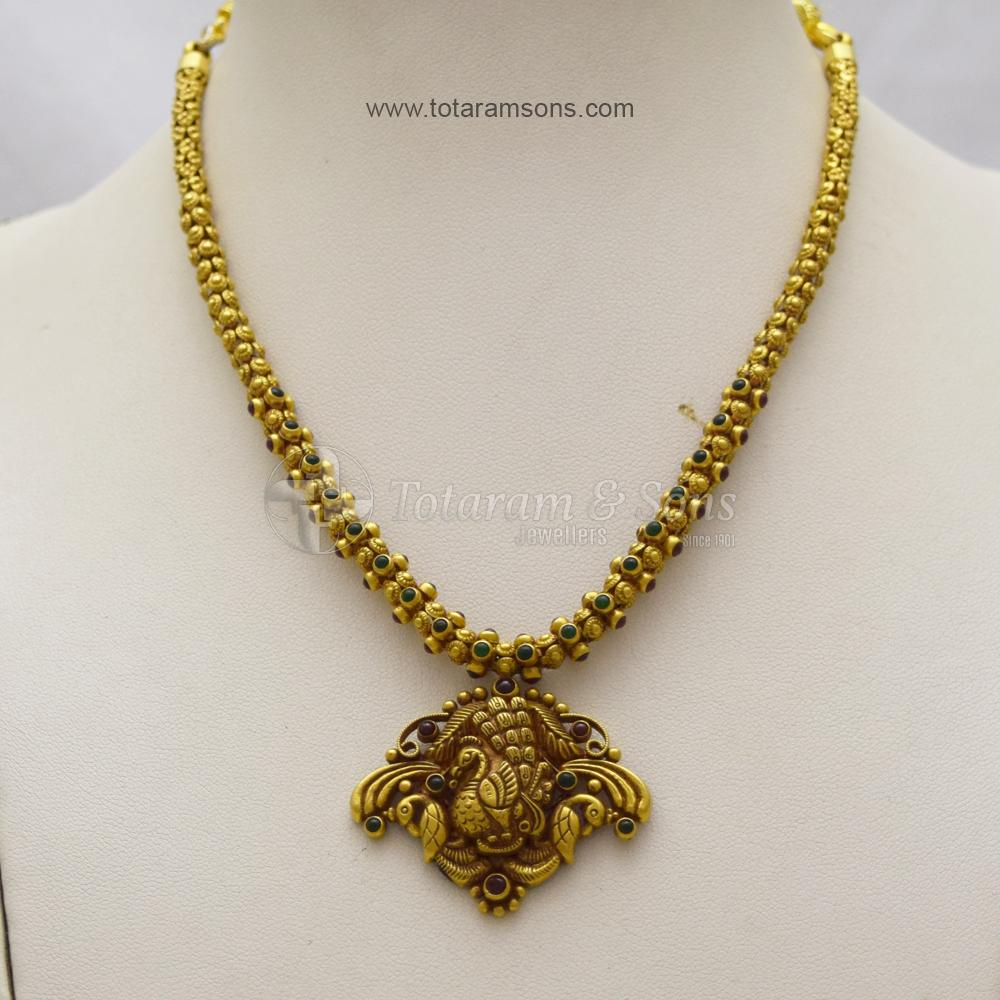 light weight peacock necklace from totaram & sons