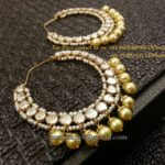 Pearl and Uncut Chandbalis from Zevar Emporium