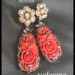 Kundan and Coral Earrings from Amita Damani Design
