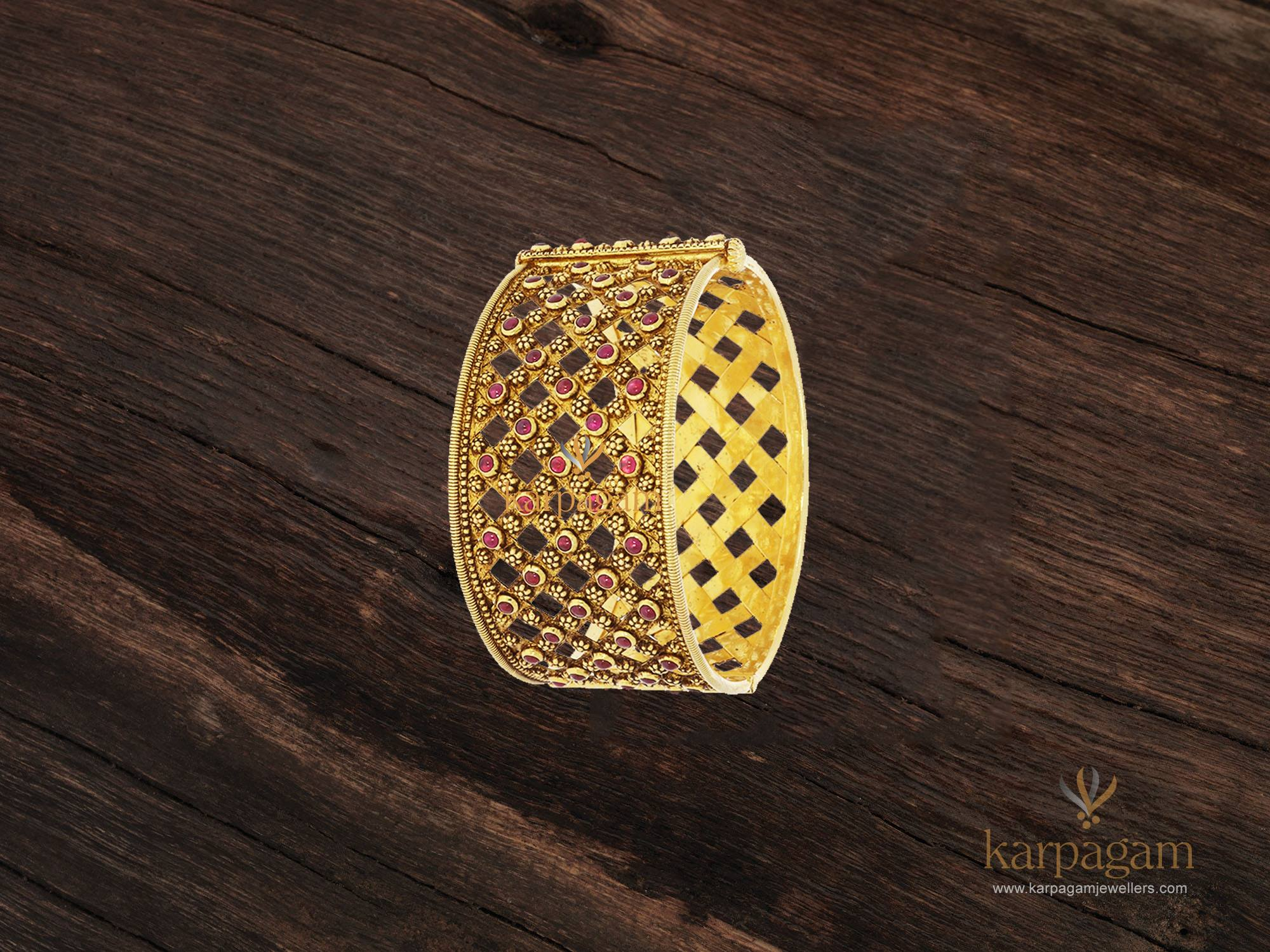 gold kada collection from karpagam jewellers 3