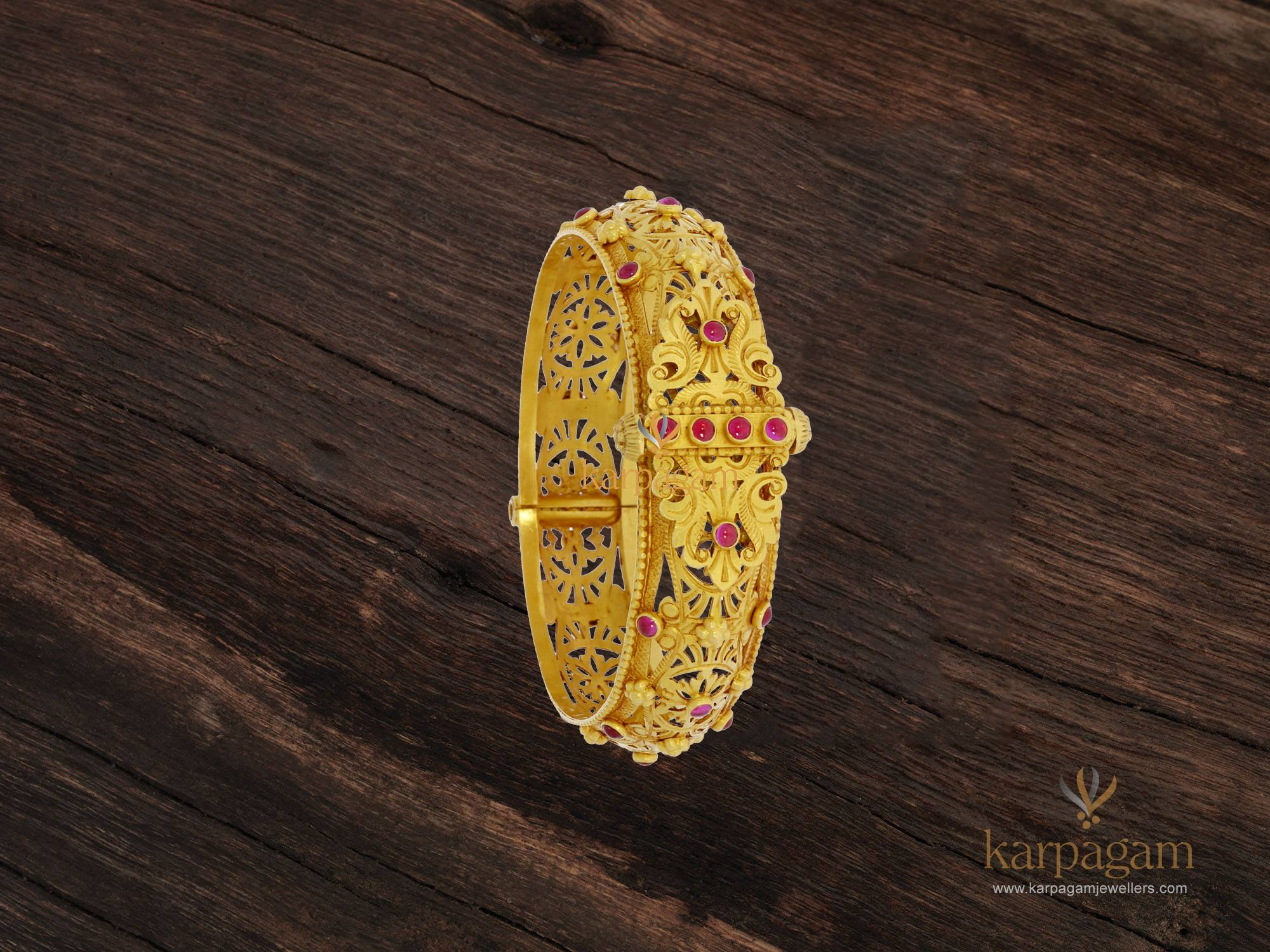 gold kada collection from karpagam jewellers 2