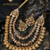 gemstone gold plated silver necklace from MS Pink Panther