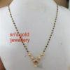 light weight gold black beads mangalsutras