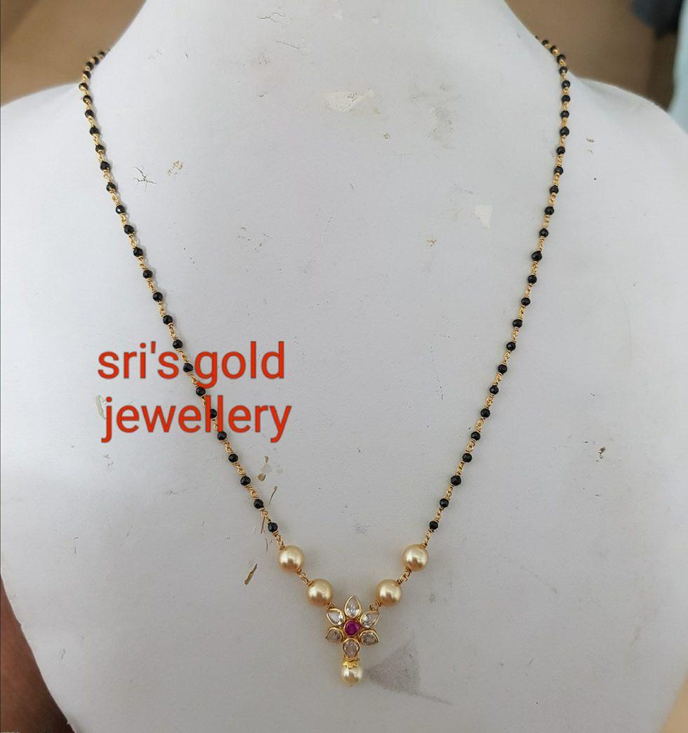 47758b805c091c Light Weight Gold Black Beads Mangalsutras