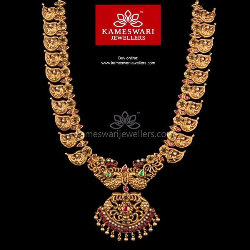 Antique Mango Mala from Kameswari Jewellers