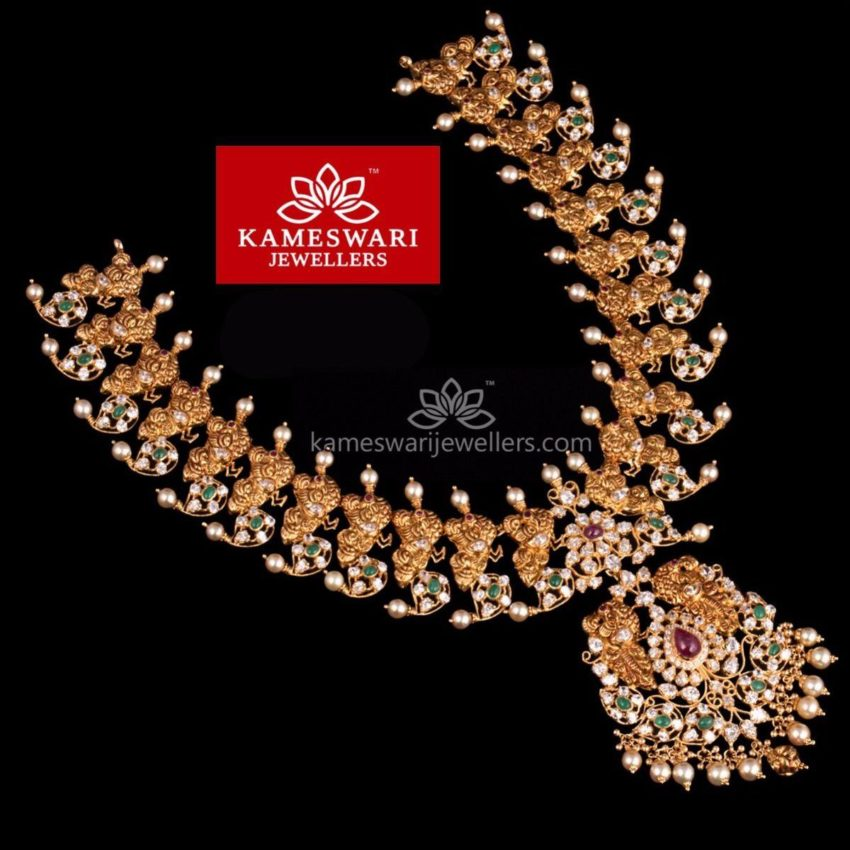 Mango Mala with CZ Pachi Pendant from Kameswari Jewellers