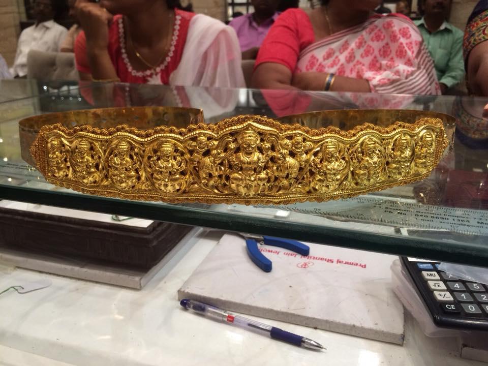 ashta lakshmi vaddanam collection 230 grams from premraj shantilal jain jewellers