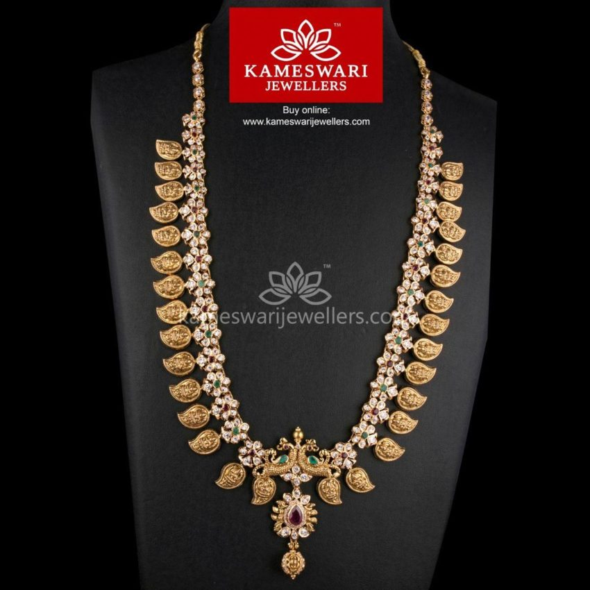 lakshmi carved mango mala from kameswari jewellers