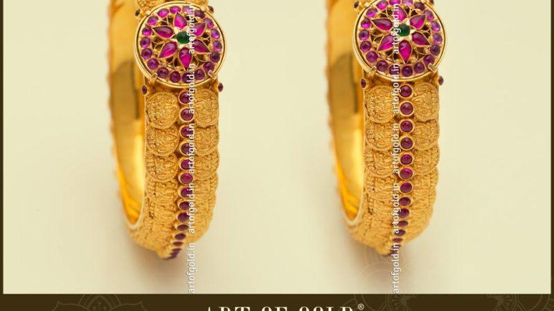 kada type kasu bangle from art of gold jewellery