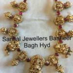 Ganesh and Lakshmi Pendant Necklace from Santlal Jewellers