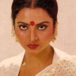 Actress Rekha in Pearl Ear Accessories
