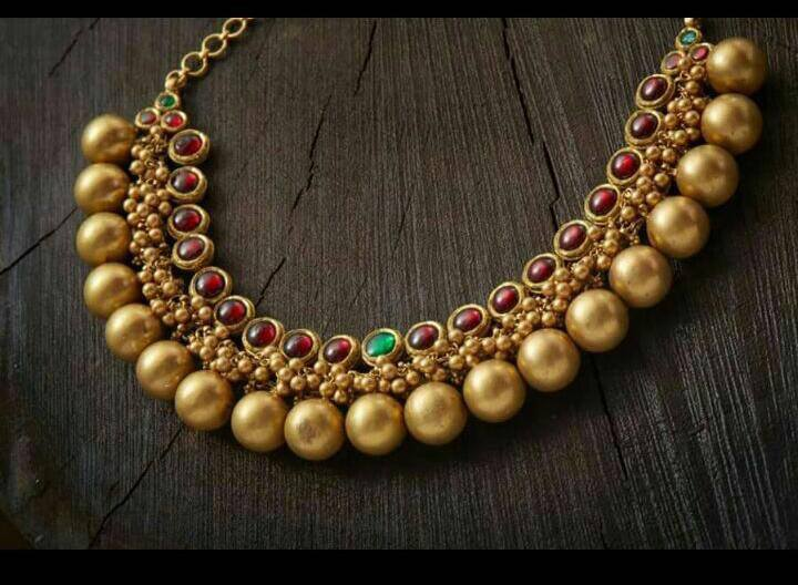Gold Plated Pure Silver Temple Jewellery