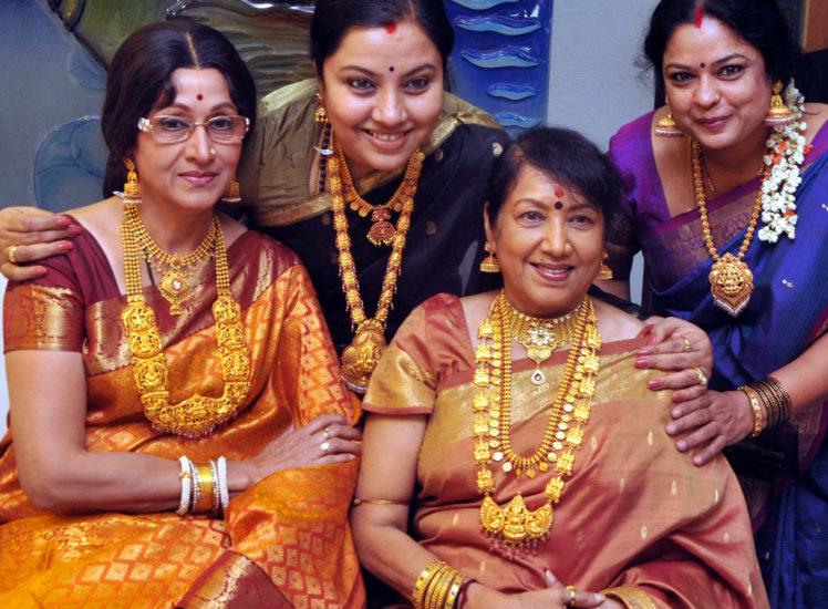 kannada actress jayanti, bharati in gold jewellery