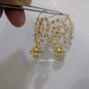 light weight pearl chandbali from pulimamidi jewellers