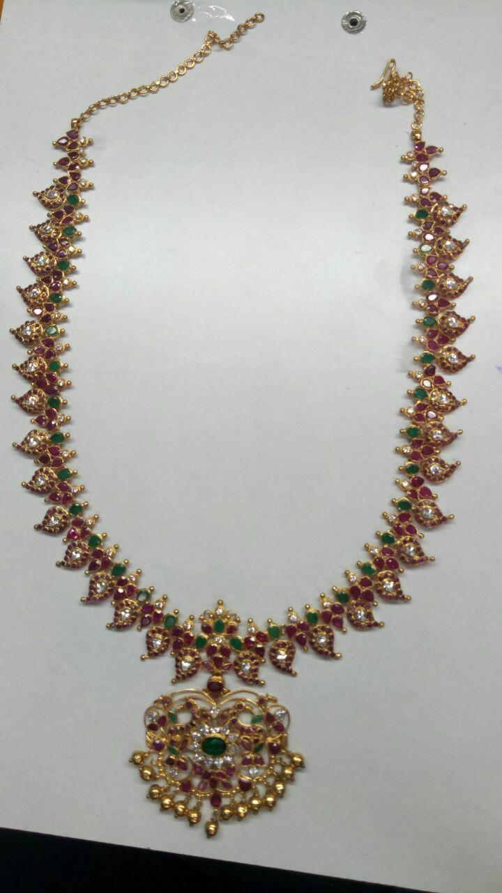 light weight gold mango mala by mirra light weight jewellery