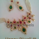 Gold Pearl Set with Earrings from Sonalika Jewels