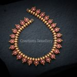 22 Carat Ruby Necklace from Creations Jewellery Bangalore