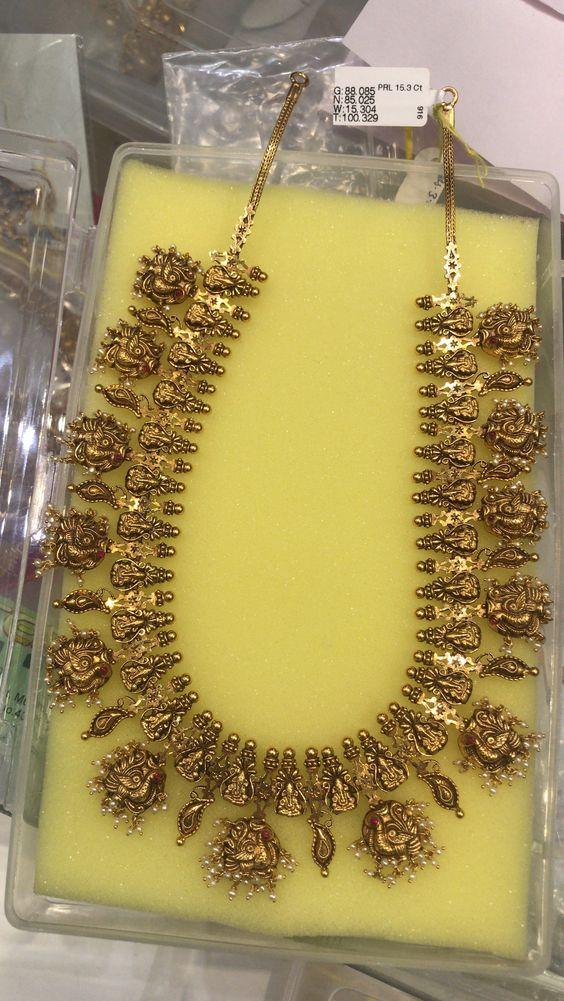 Heavy Ganesh Pendant Necklace from Premraj Shantilal Jain Jewellers
