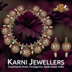 Bold Polki Bottu Mala from Karni Jewellers