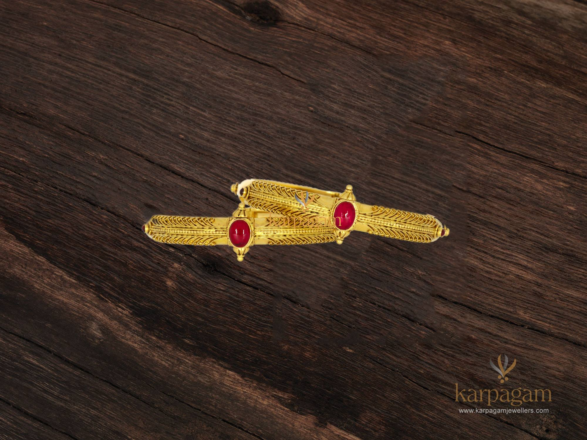 gold kada collection from karpagam jewellers 1