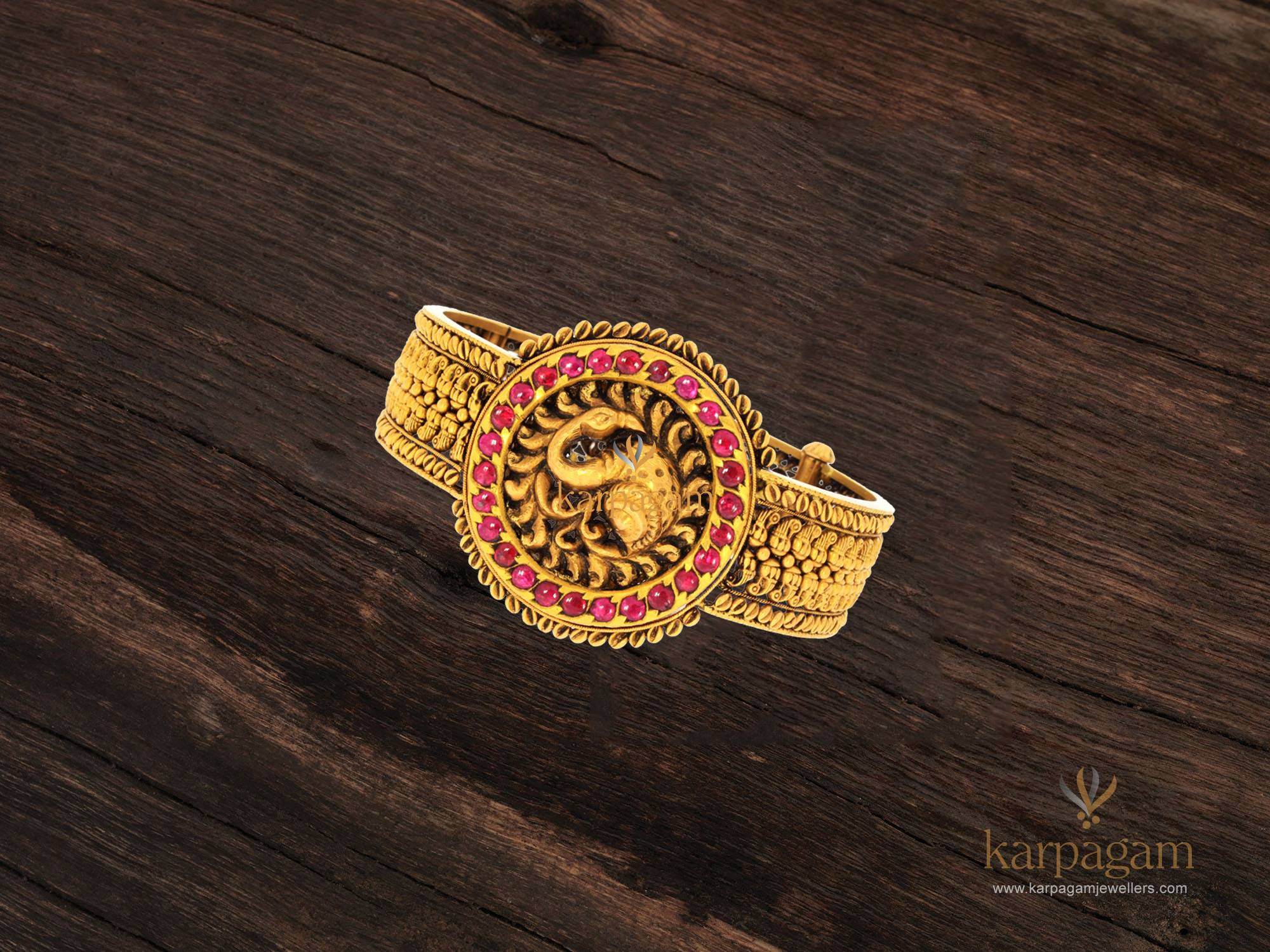 gold kada collection from karpagam jewellers 4