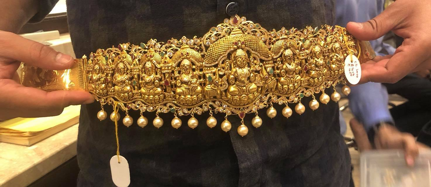 Ashta lakshmi Vaddanam collection 180 grams from Premraj Shantilal Jain Jewellers
