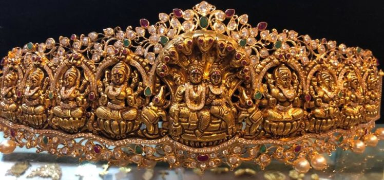 ashta lakshmi vaddanam collection 300 grams from premraj shantilal jain jewellers