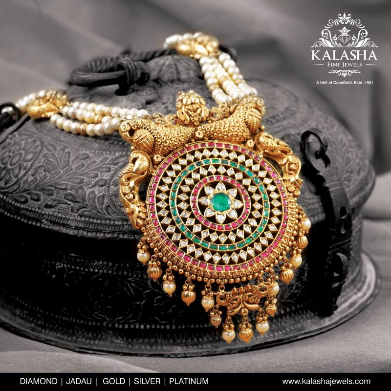 temple jewellery collection from kalasha jewels
